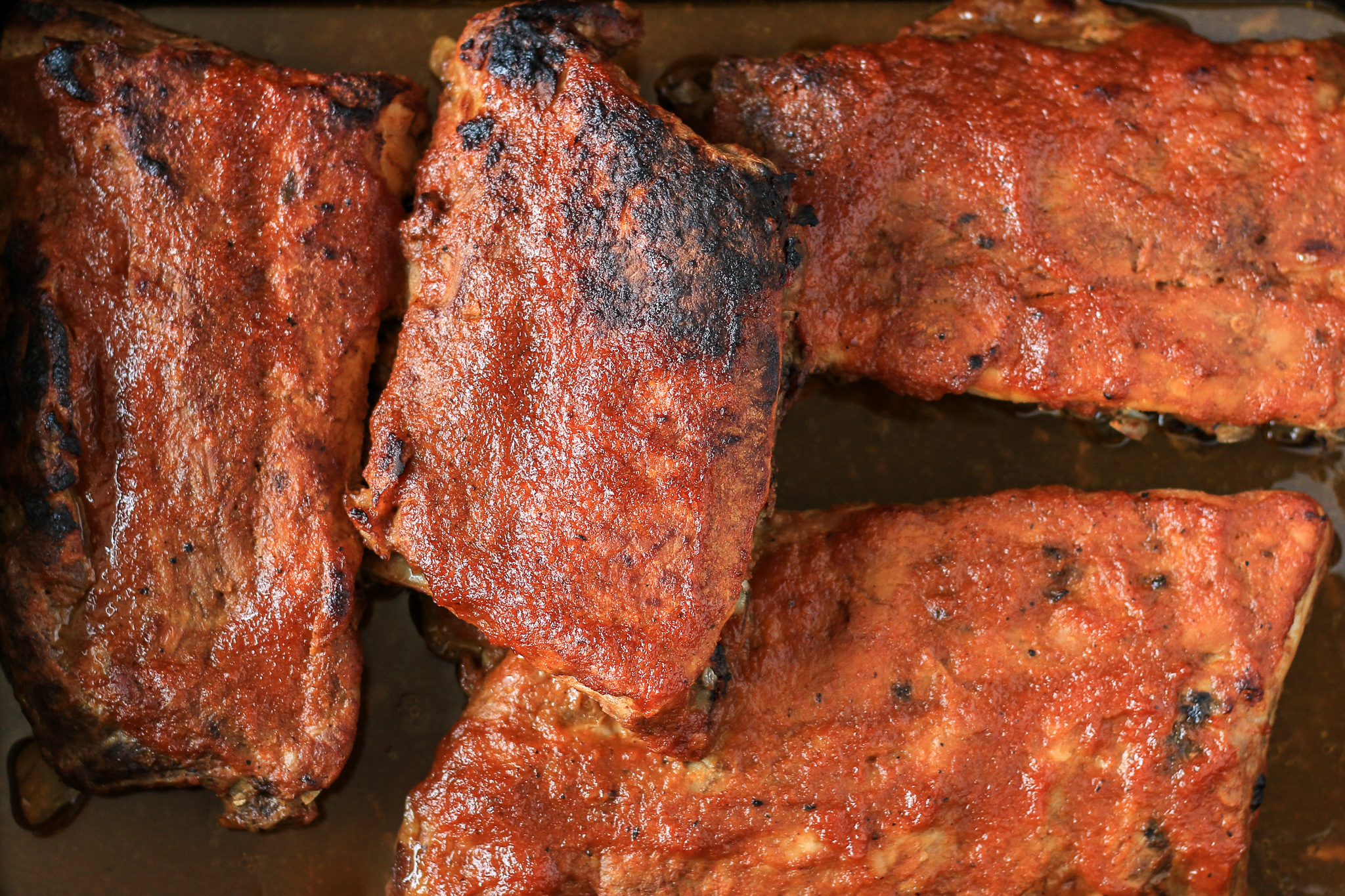 Oven-Baked Ribs with Kickin' Peach BBQ Sauce