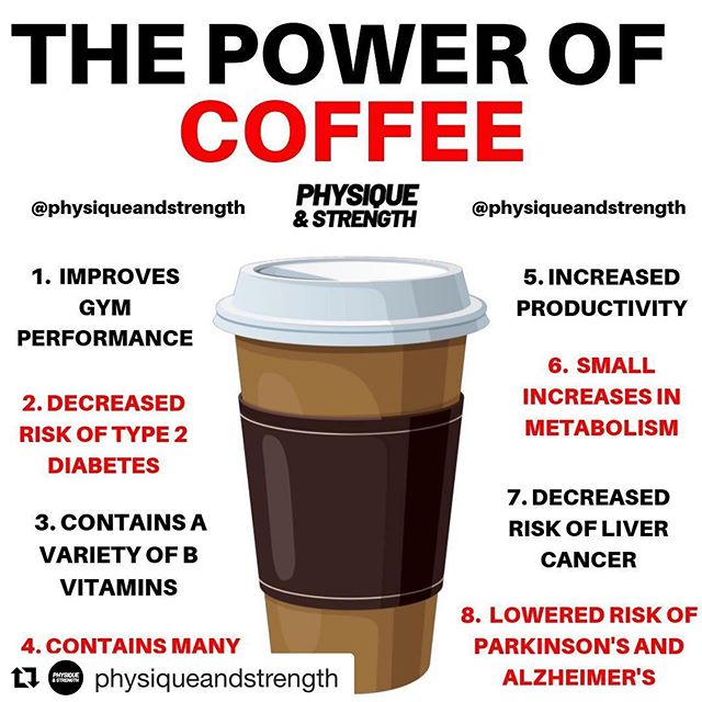 #Repost @physiqueandstrength with @get_repost ・・・ Have you had your morning coffee yet?☕️ - Comment down below your coffee order!👇🏻 - Tag a coffee lover!👇🏻 - Most coffee drinkers have 2 reasons they use coffee. Firstly to wake themselves up in the morning to increase alertness and concentration for the start of a working day therefore increasing productivity. The second reason is to increase performance in the gym as caffeine has been shown to help improve strength and endurance.💪 - Coffee also comes with many many other benefits including the ones lifted above such as decreased risk of type 2 diabetes and Alzheimer's, so a couple of cups of coffee a day could actually help you to live longer👨🏻🦳 - FOR ALL THE BEST SUPPLEMENTS AND THE GYM ESSENTIALS - LINK IN BIO❗️ - 👉🏻 Follow @physiqueandstrength 👈🏻 👉🏻 Follow @physiqueandstrength 👈🏻 👉🏻 Follow @physiqueandstrength 👈🏻 - #preworkoutdrink #caffeinedaily #productivitytips #coffeebenefits #coffeeandfitness