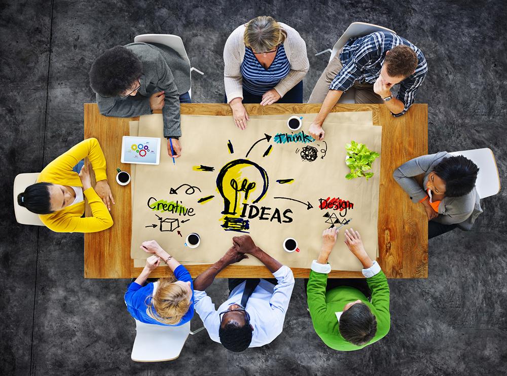 Equipo de trabajo creativo. Foto: Google