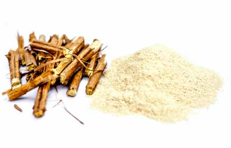 Ashwagandha, also an adaptogen, has been shown to lower blood sugar levels. Your blood sugar level is the amount of glucose in your bloodstream. Too much glucose in the blood gets stored as fat. A well-balanced blood sugar level is crucial to your overall fitness and well-being, regulating your hormones, triggering your body to burn stored fat, and increasing your metabolism to help you lose weight.