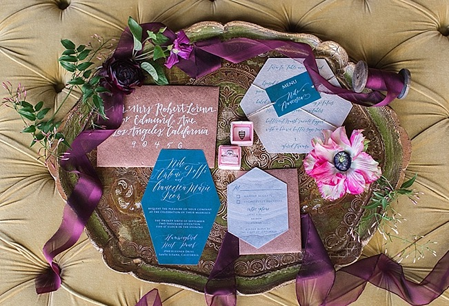 So. California Bride - Jewel Toned Modern Styled Shoot