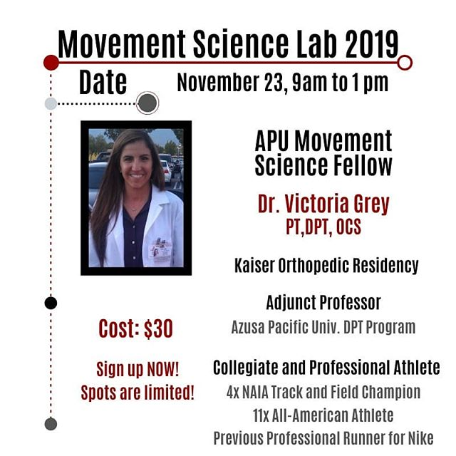 Sign up before it's too late! Don't miss out from this awesome opportunity to learn from some of the best in our profession! Dr. Grey will be one of the fellows helping to conduct the lab. See the sign up sheet via the link in our IG bio! . Required: Must be a 2nd or 3rd year DPT student that has completed their orthopedic didactic series. . #ptstudent #ptaschool #ptschool #ptastudent  #dptstudent #dptschool