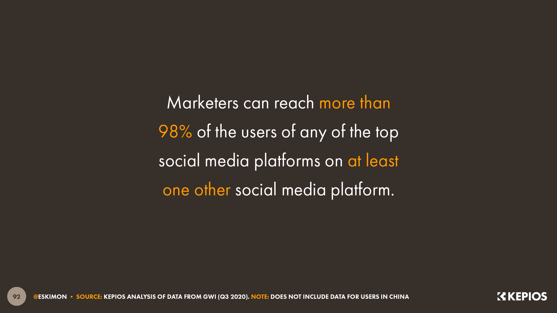 Social Media Audience Overlaps Call-Out