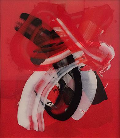 RICHARD MARTIN    Destiny Speaks   acrylic on canvas, perspex  166 x 133 cm