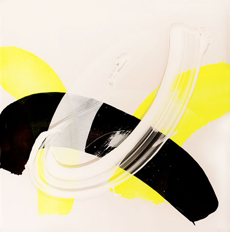 RICHARD MARTIN    Paddocks Reach I   acrylic on canvas, perspex  120 x 120 cm