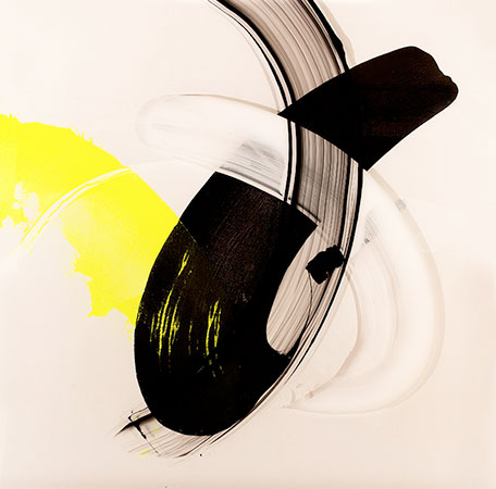 RICHARD MARTIN    Paddocks Reach II   acrylic on canvas, perspex  112 x 120 cm