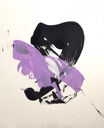 RICHARD MARTIN    Purple Patch   acrylic on canvas, perspex  160 x 130 cm