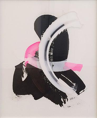 RICHARD MARTIN    Cheeky Custody   acrylic on canvas, perspex  167 x 137 cm