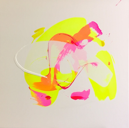 RICHARD MARTIN    Candy Lick   acrylic on canvas under perspex  120 x 120 cm