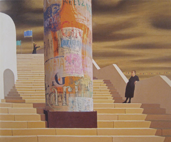 The Steps, Palma    oil on canvas  63 x 78 cm   SOLD