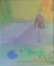 Pond Landscape c.1980    oil on canvas board 44 x 37 cm  signed lower right