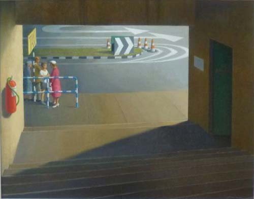 Taxi Stand Brisbane Art Gallery, 2002    oil on canvas  79 x 101 cm   SOLD