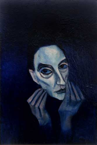Portrait of a Woman, c.1953-55    enamel on board  90 x 60 cm   SOLD