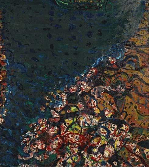 River Bank , 1969    oil on canvas  149 x 133 cm  signed lower left: John Olsen   SOLD