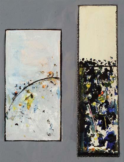 Landscape Study c. 1974    oil on paper  37 x 24.5 cm   SOLD