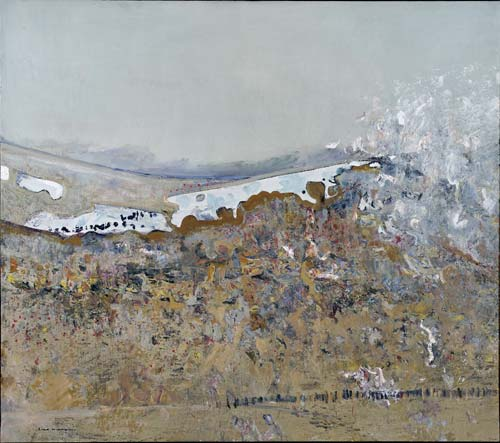 Summer Snow in Perisher c 1975-77    Signed Lower Left  oil on canvas  135 x 152 cm   SOLD