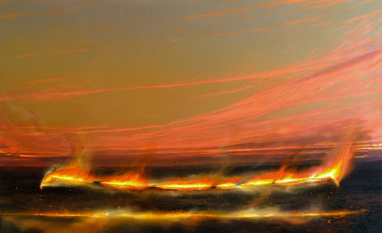 Line of the Plain     , 1995    oil on linen  183 x 305 cm   SOLD