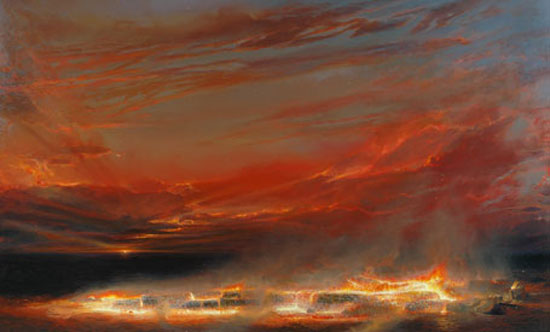 Evening, 1995    acrylic on linen  185 x 305 cm   SOLD