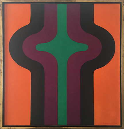 Cross Section, 1969    oil on canvas  80 x 65.5cm  signed lower right