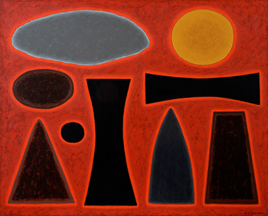 Maralinga II, 1999    Oil on Canvas  130 x 160 cm  signed lower right   SOLD