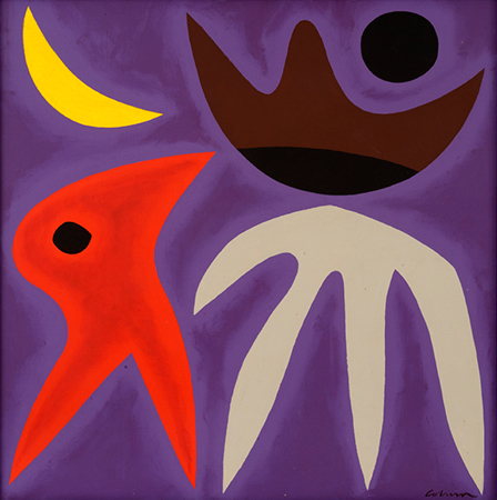 Moon Bird, 1971    acrylic on canvas  70 x 79 cm  signed lower right   SOLD