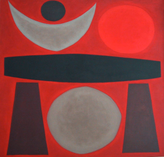 Temple I    oil on canvas  126 x 132 cm  signed lower right   SOLD