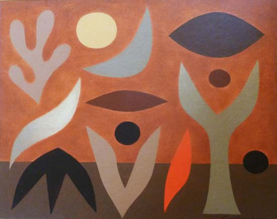 The Day of The Fire c. 1980    acrylic on canvas  40 x 50 cm  signed lower right   SOLD