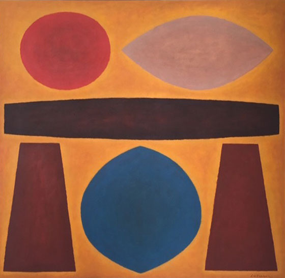Sun Ritual , 1983    oil on canvas 166 x 168 cm  signed lower right