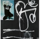 Bad Girl, 2001    acrylic and collage on canvas 167 x 167 cm  signed lower right