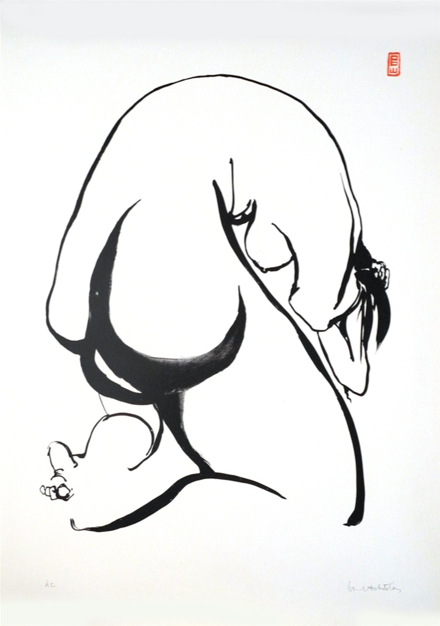 Towards Sculpture 6, 1977    Lithograph ed.5/50 90 x 63cm