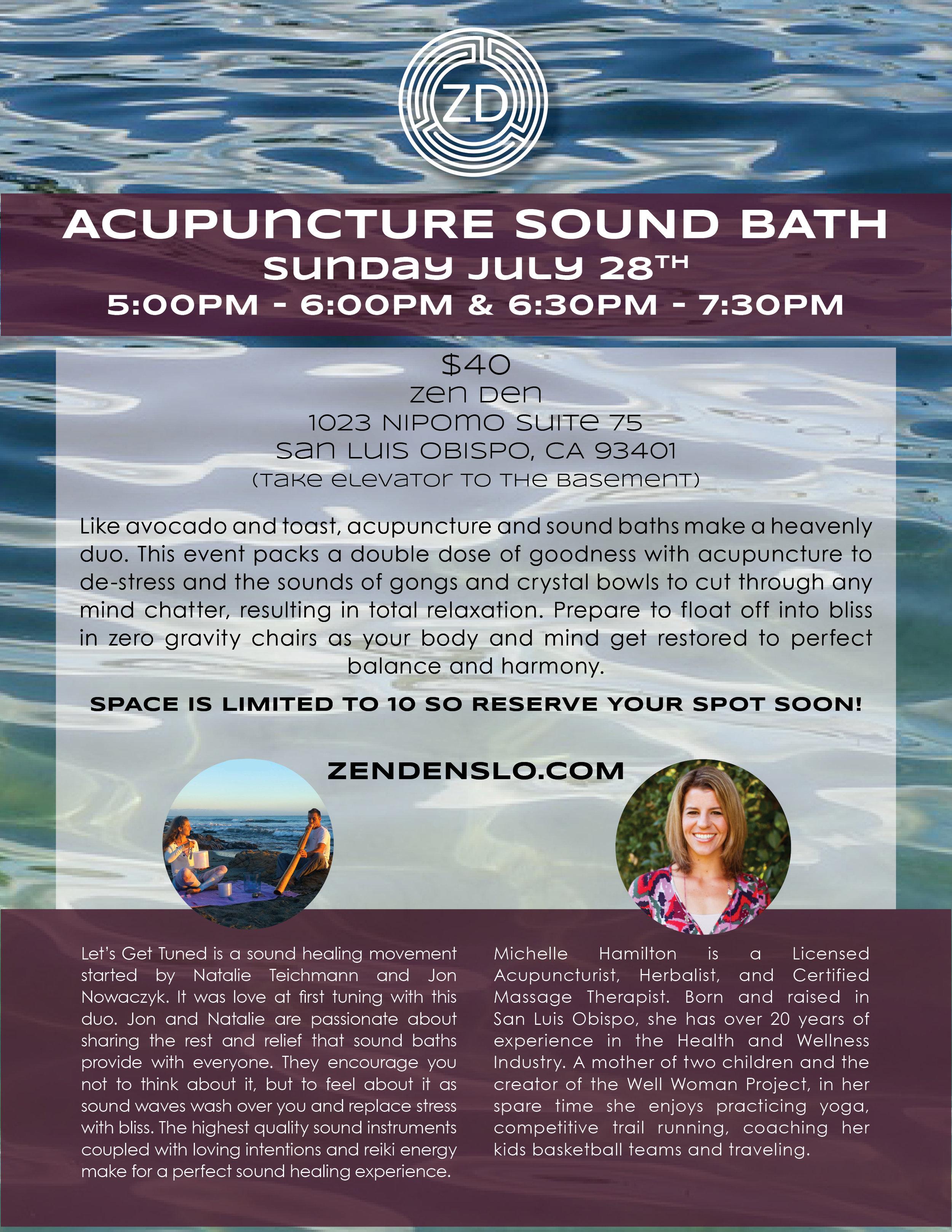 San Luis Obispo Soundbath Acupuncture
