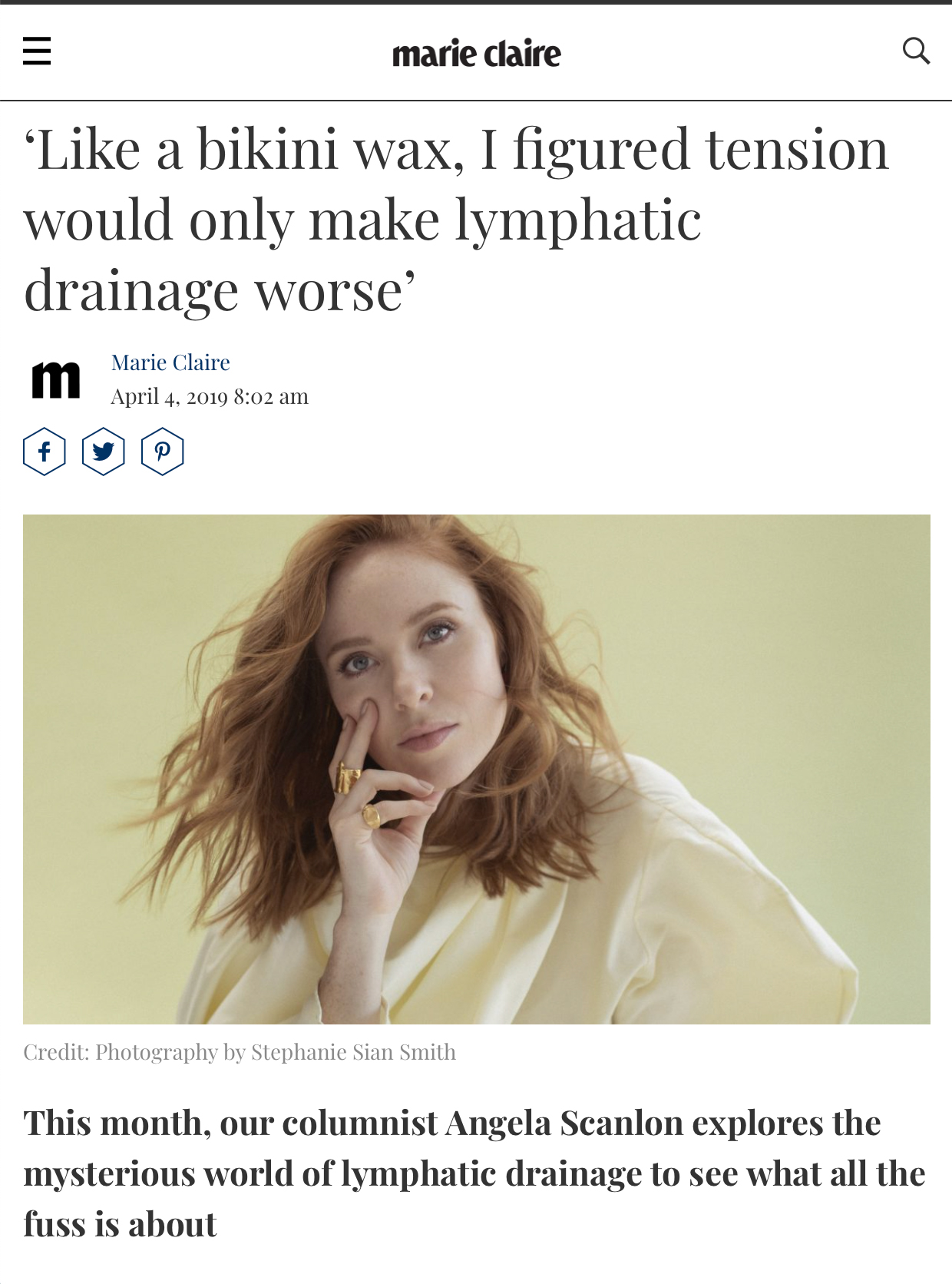 """  Flavia Morellato   arrived at my home on a windy Wednesday evening and hugged me before taking off her boots and bounding up the stairs."" By  Angela Scanlon .  @angelascanlon     Read more"