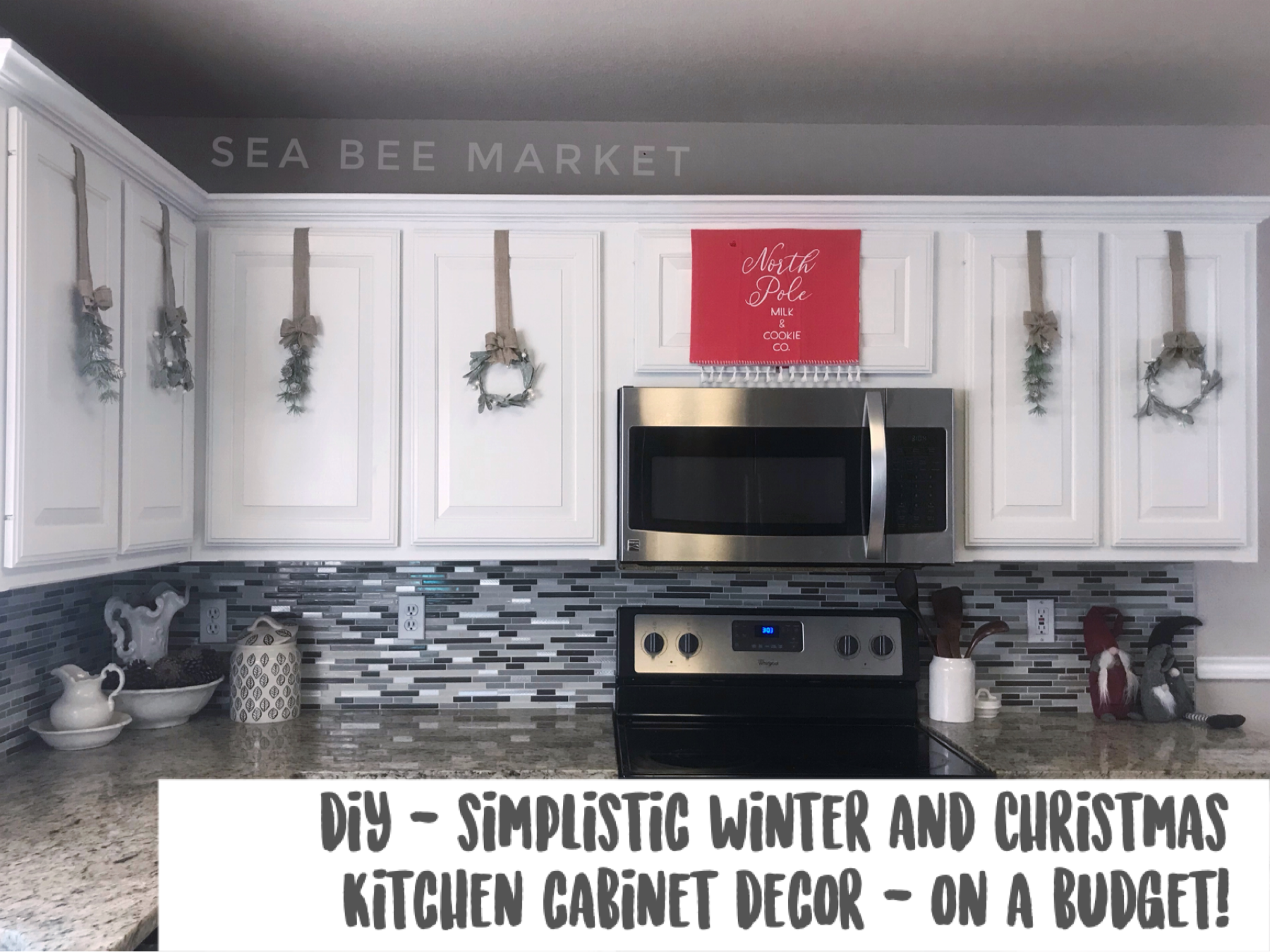 Diy Christmas Winter Kitchen Cabinet Decor Sea Bee Market