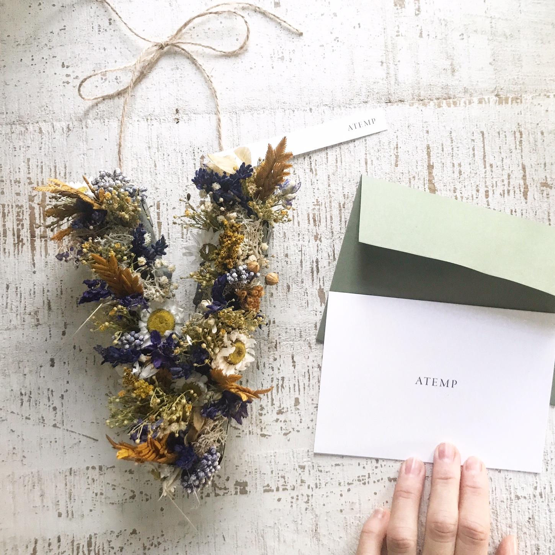 Copia de Inicial de flores secas y preservadas