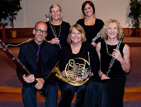 Karen as a principal with the Dolce Wind Quintet.  Learn more about them here!