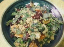 Yummy Kale Salad with a zesty Lime-Avocado Dressing
