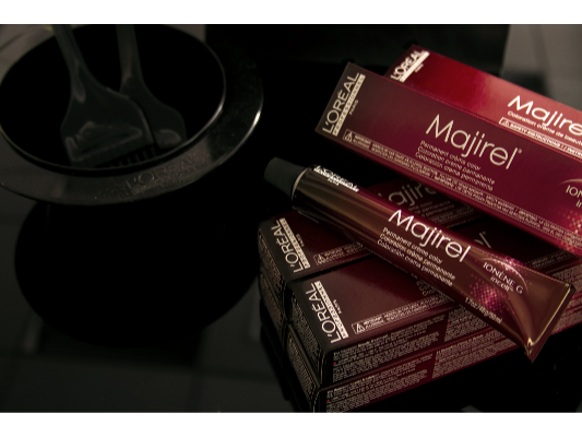 Majirel is the first permanent cream haircolor. It treats hair from inside out!