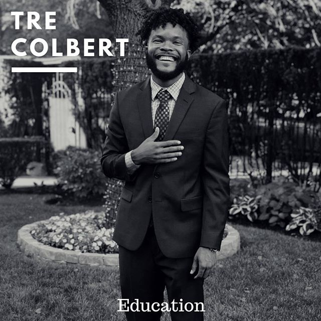 "Today's #melaninmonday features Tre Colbert! Tre is an incredible educator who believes that, ""Education is an essential tool for driving toward equity in access to opportunity, wealth, knowledge and stability in America."" Check out his full feature on our website! Link in bio. #colorthenarrative #positivelymelanin #blackeducators #blackboyjoy"