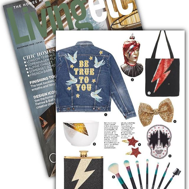 Feeling inspired, thank you for the feature #livingetc magazine we love the feature. Instant customisation with Stick It by Tinker Tailor www.stickitfashion.com #customise #fashion #davidbowie #skull #stylist