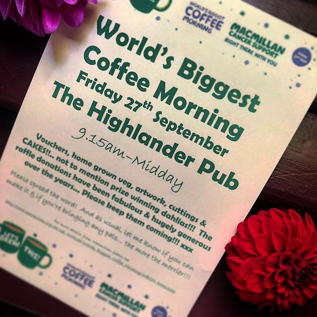 Please come and join us for coffee and cake this coming Friday from 9.15 am till 12 lunch time !!!!! . . . #macmillancoffeemorning  #hitchin #pub #local  #hertfordshire  #goodcause  #coffee  #cake #friday #fridaymorning  #cancerfighter  #brothersandsisters  #famille  #share #macmillancancersupport