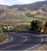 A sharply curved road can lead to cars leaving the roadway