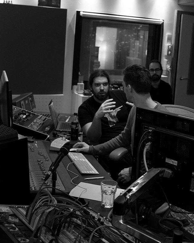 During one of those long nights in the studio with @gracchusofficial and @andriurfer working on #Murderparty Curious about the outcome? Go see them on the 12th October 😉 #gracchus #murderparty #albumrealseparty #progressivemetal