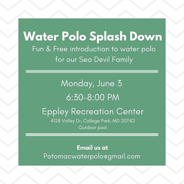 Join us tonight and bring your friends! Thank you @potomacwaterpolo