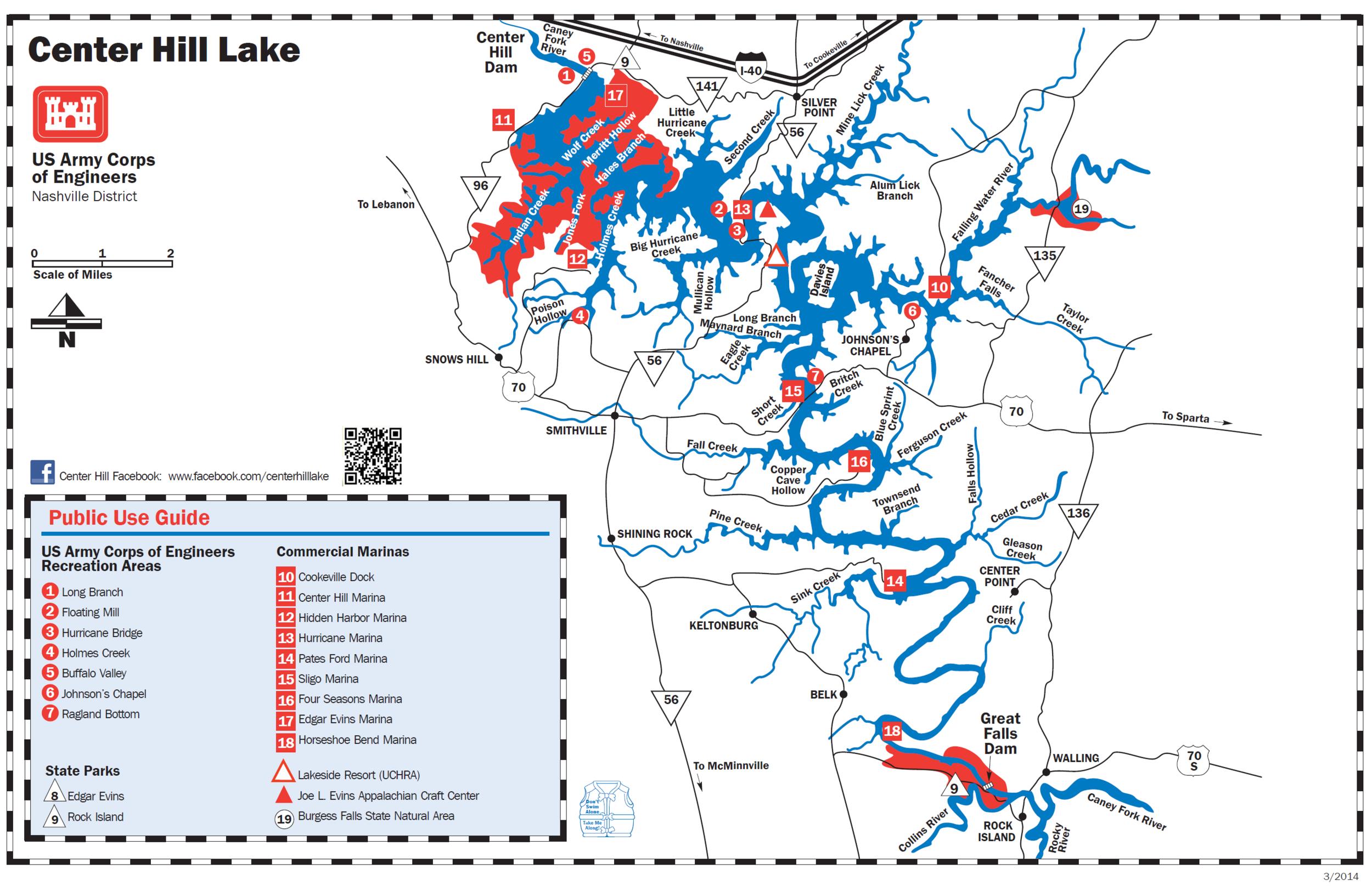 map of center hill lake Center Hill Lake Marinas Map map of center hill lake