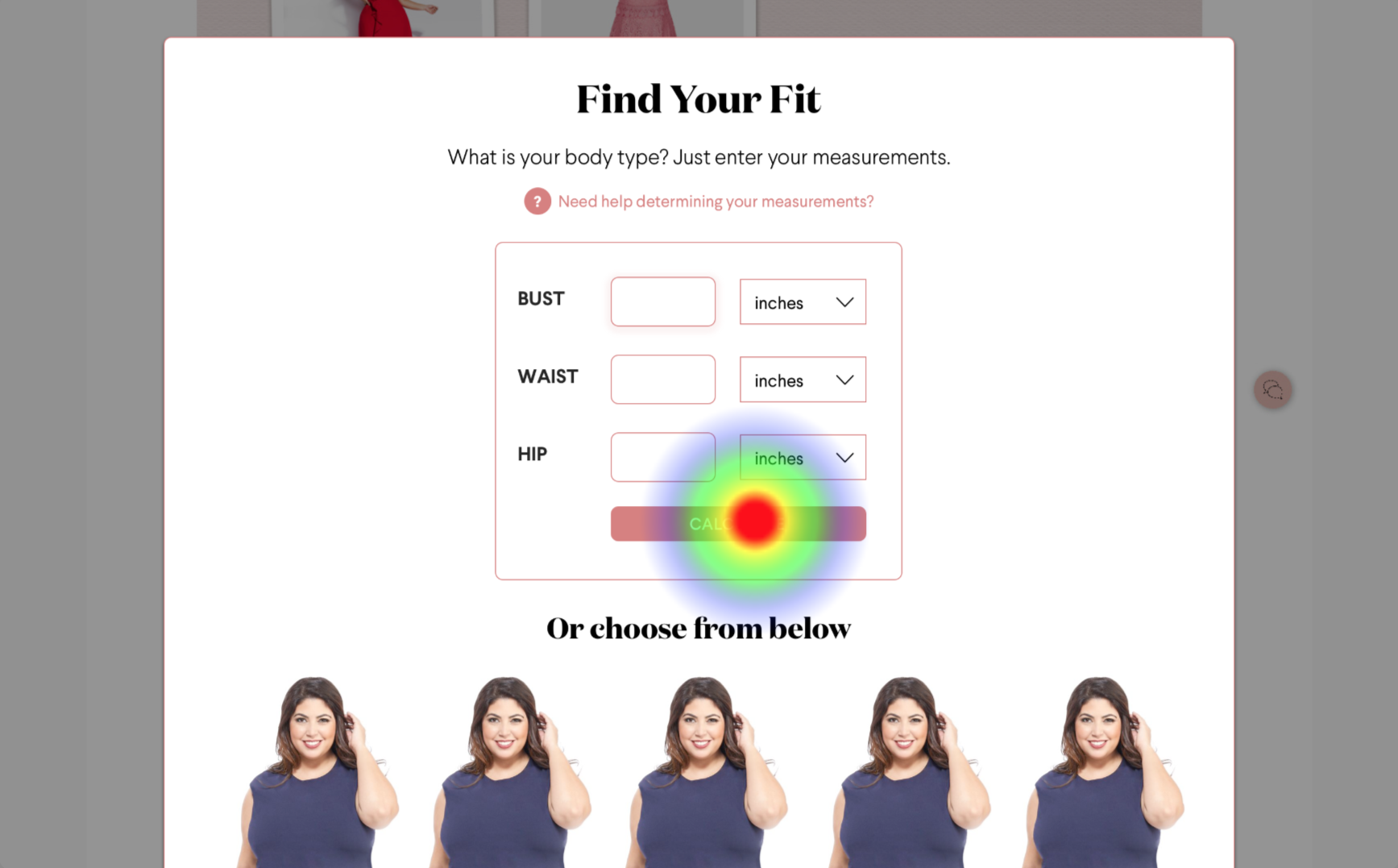 Task 1 - Use Body Type Calculator