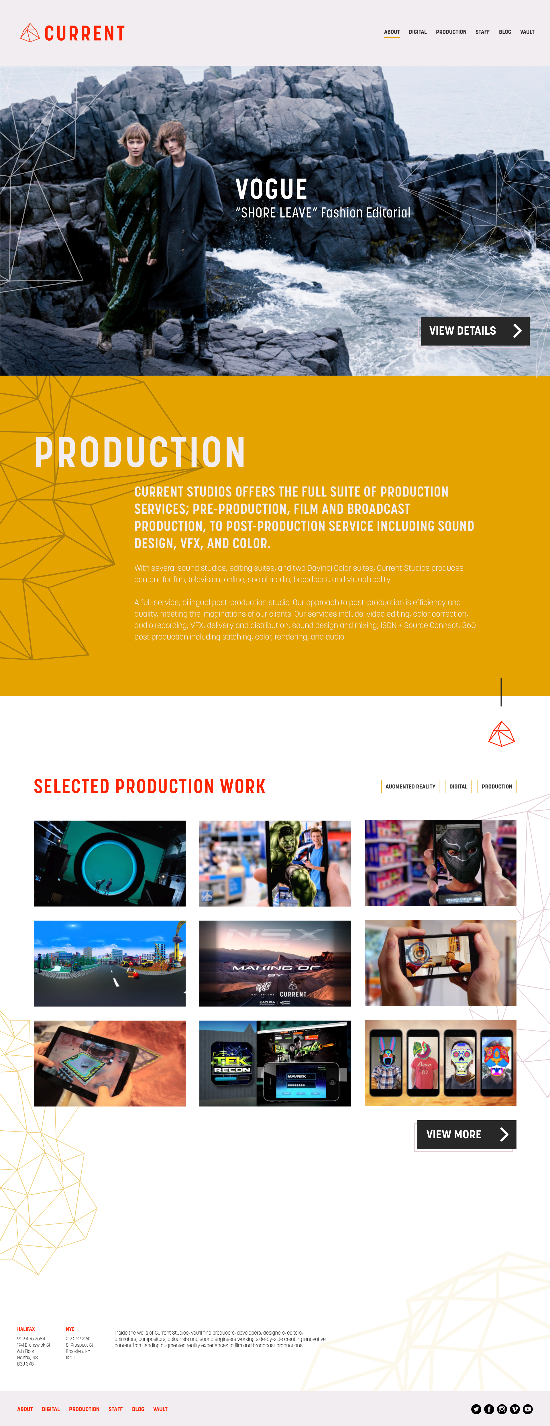 Production / Feature Page