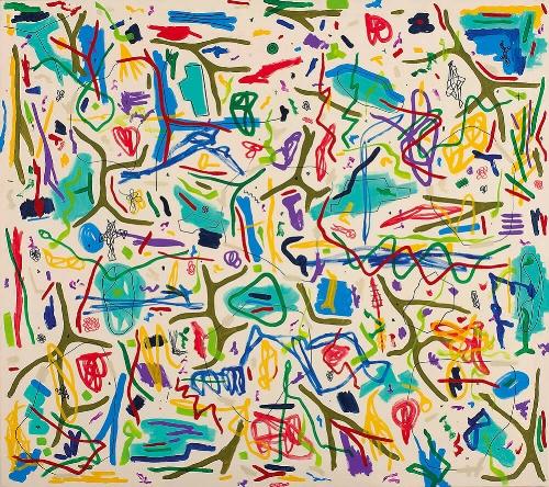 Pablo Rey, 'Estados Complementarios # 011', 130 x 146 cm. Mixed media on canvas. Sant Feliu de Guíxols, Costa Brava, 2005.