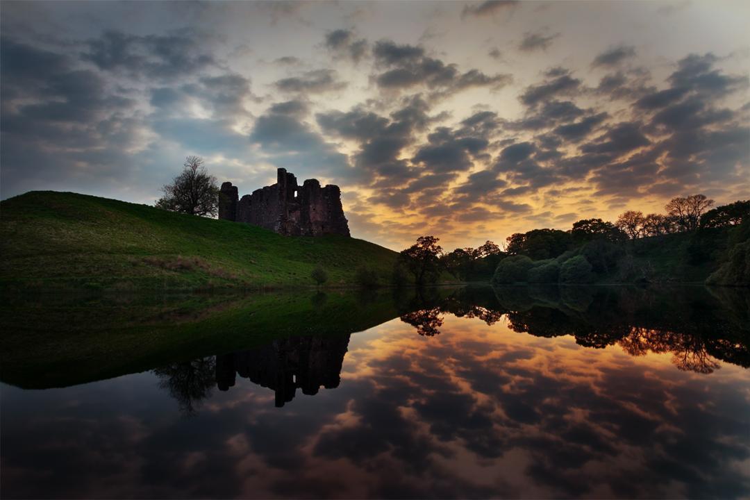Morton Castle at Sunset