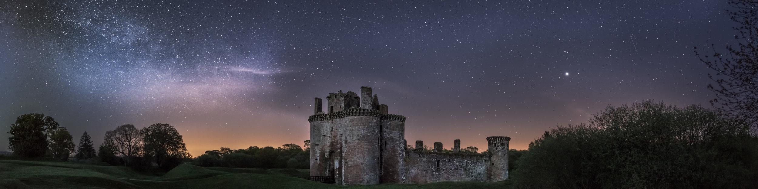 Caerlaverock Castle under the stars