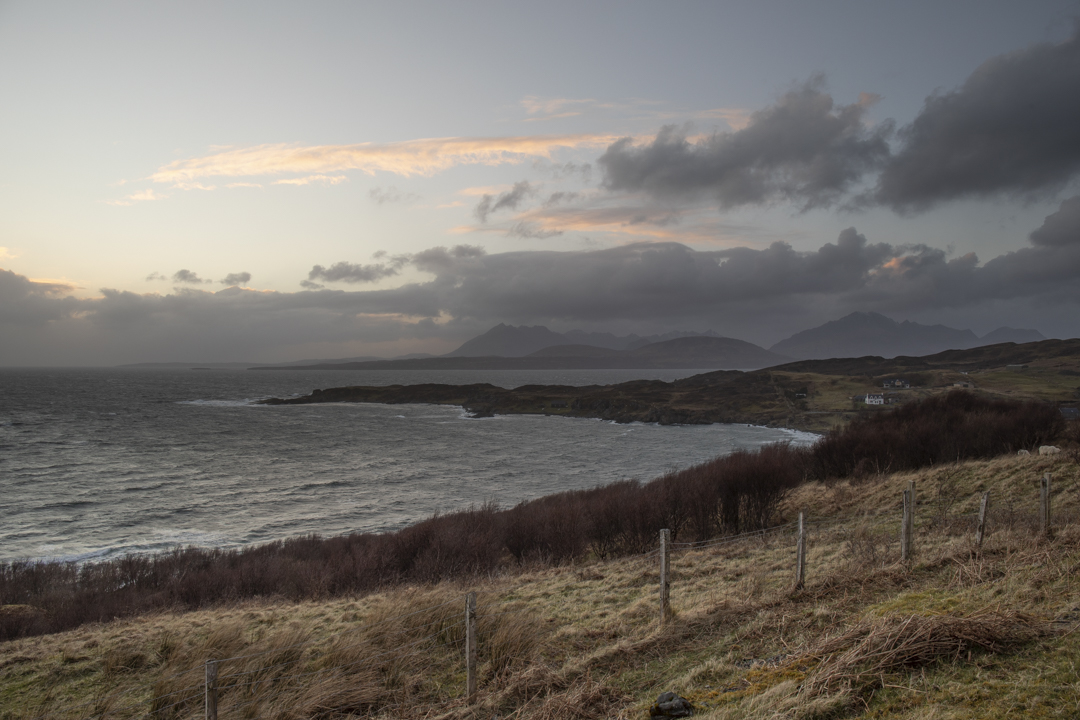 View Over Tarskavaig towards the Cuillins